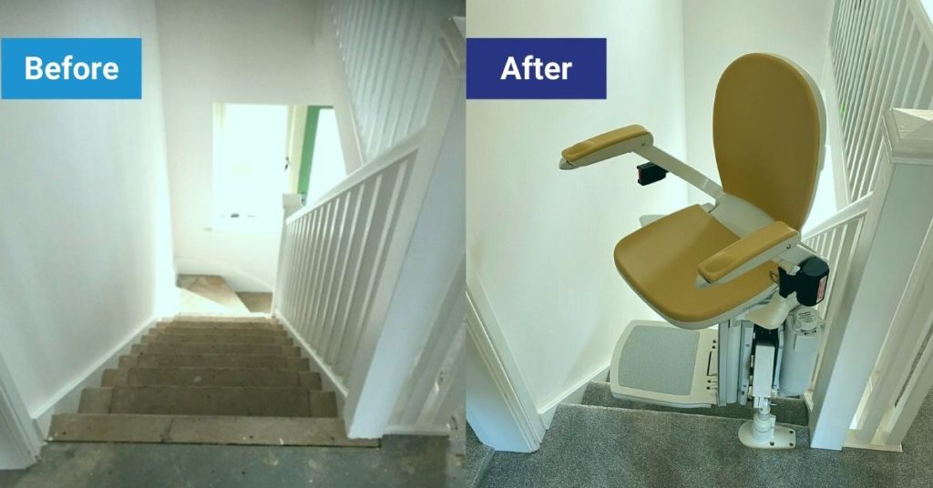 Will installing a stairlift damage my decor?