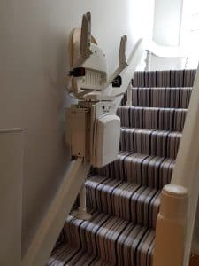 Leodis curved stairlift