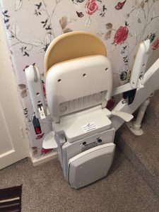 Bison 180 stairlift install Mr and Mrs Walker