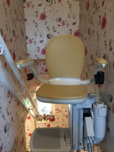 Mr and Mrs Walker stairlift installation