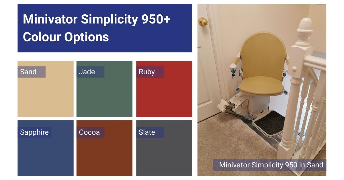 Minivator 950 available in 6 colours