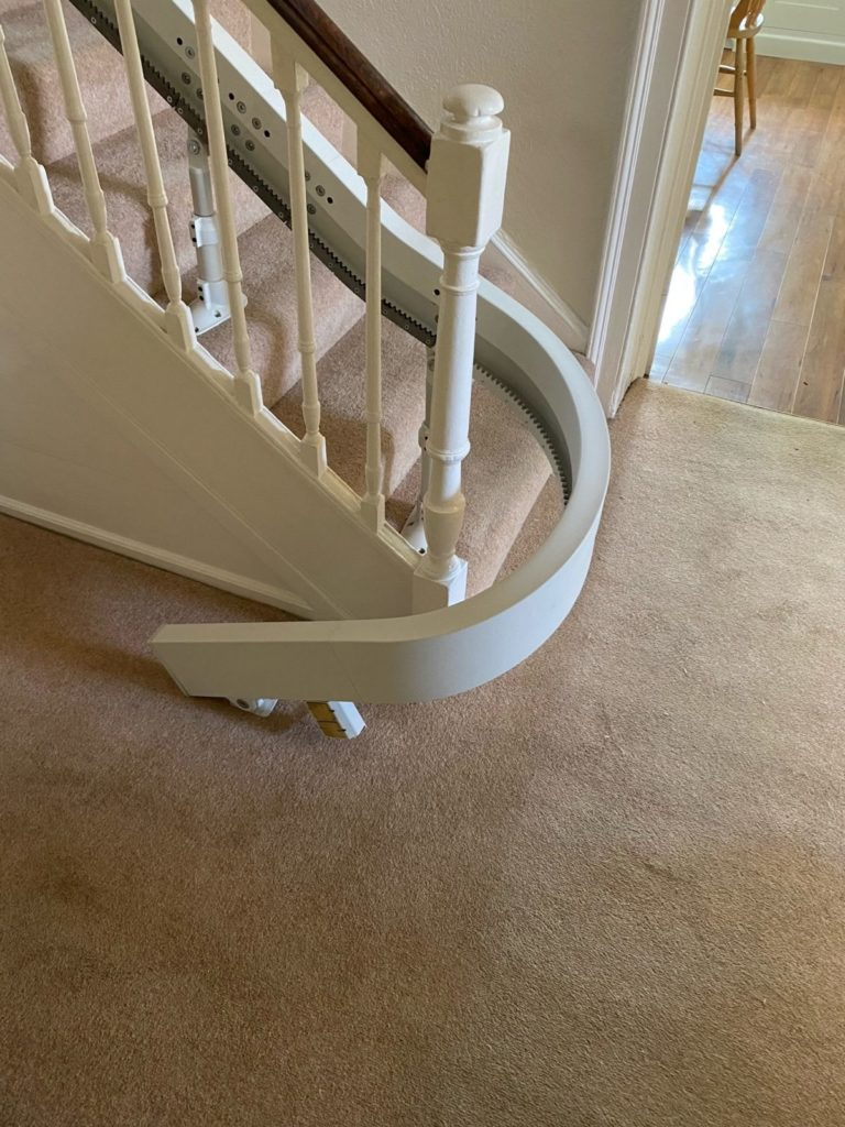 Sheffield Curved Stairlift Installation