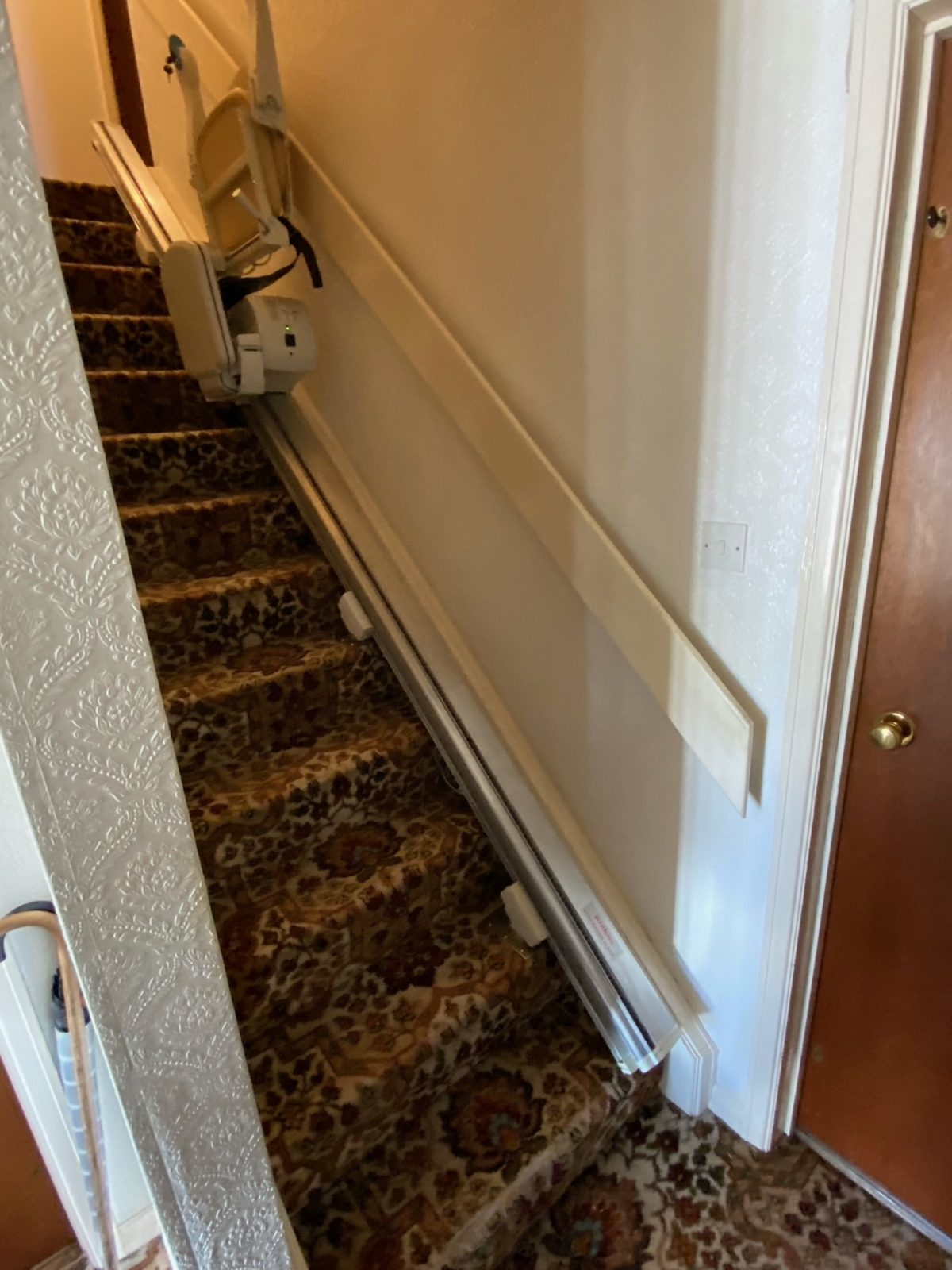 Minivator 950 stairlift installed in Stairlift installation in Waltham