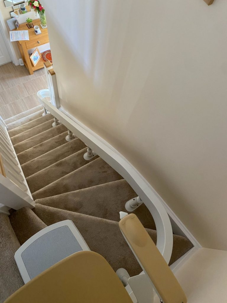 curved_stairlift_installation_Wetherby_8